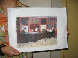 Sophie Signorino's inspired version of John Sloan's painting