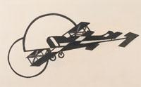 Louis Lozowick, Aeroplane, Image Thrown on a Screen, ca. 1926-1927