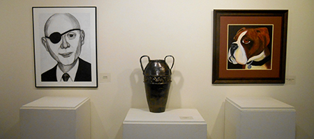 Paul Dodd's Investment Banker, Violet Paolucci's bisque clay vessel and Pauline Johnson Braun's Dudley