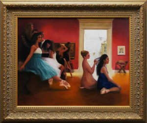 """Renaissance Gallery"" 20x16 oil on masonite"