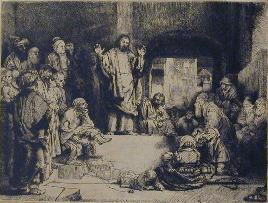 "Rembrandt van Rijn, ""Christ Preaching (La Petite Tombe)"" ca. 1652"