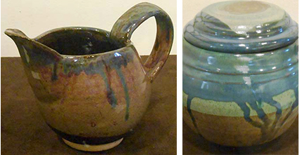 Eilleen Thomas - Pitcher and Linda Friedman - Covered Jar