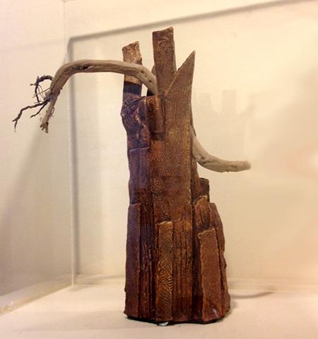 "Philip Wilkinson's sculpture ""Black Forest"","