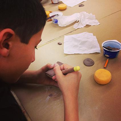 Scoring the clay