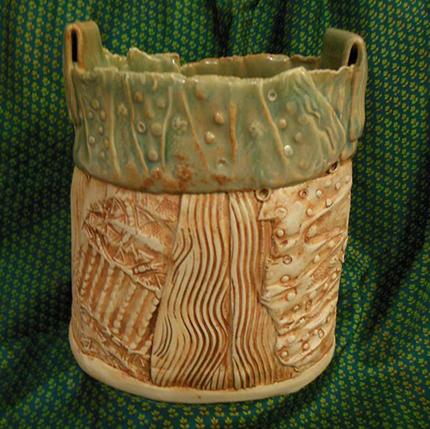Ceramic vase, signed