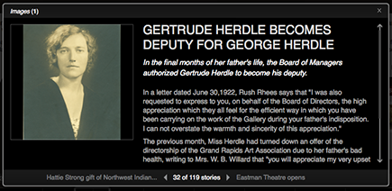 Gertrude Herdle Timeline