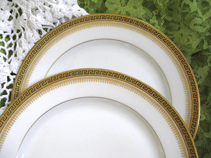 Limoges dinnerware: Greek Key