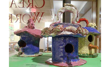 Marilena birdhouse - clay creations