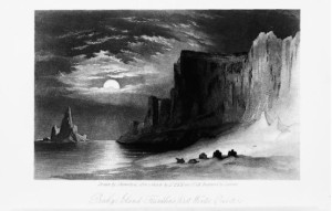 Beechy Island-Franklin's First Winter Quarters, illustration by J. Hamilton after a sketch by Elisha Kent Kane