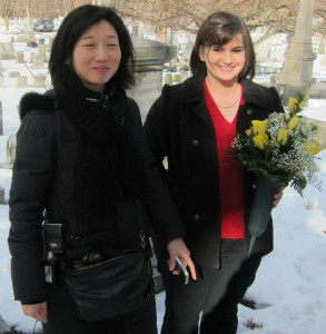 Professor Eleana Kim and Erika Howard
