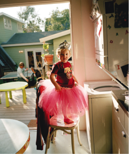 """Oliver in a Tutu,"" 2004. A photo by Catherine Opie on display at The Gender Show."