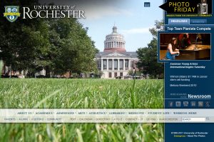 screenshot of homepage