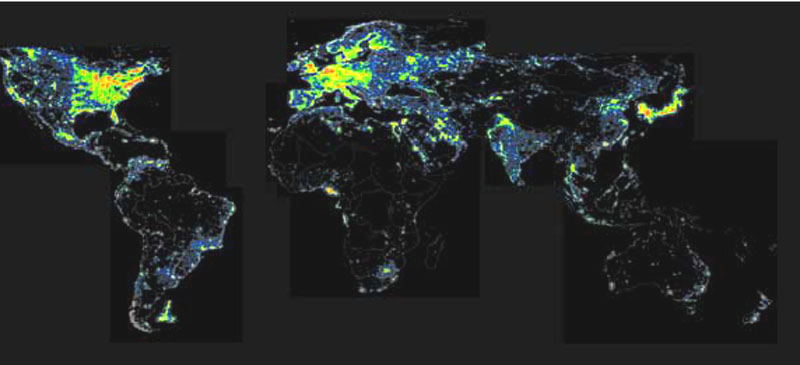Map of Light Pollution