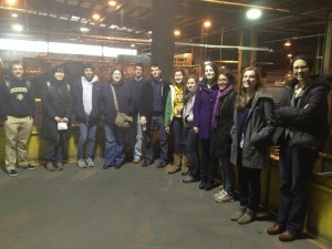Tour group at the Monroe County Recycling Center
