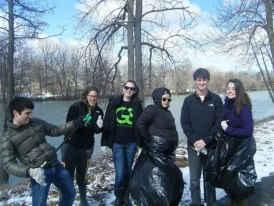 Riverside Trash Cleanup by DU and GreenSpace