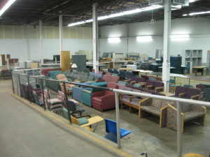 MC Surplus Property Program's warehouse of available items