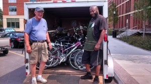 Richard Wheaton and Vincent Nero of R Community Bikes