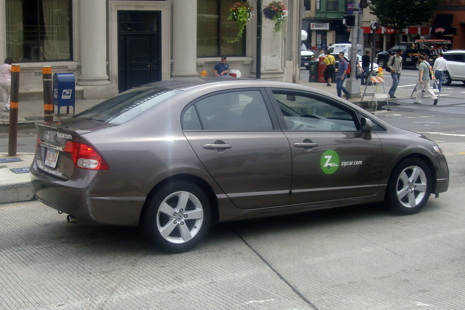 Zipcar vehicle in Boston, MA