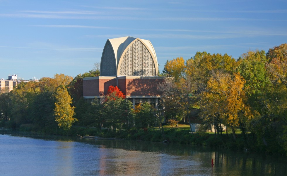 Genesee River flowing by the Interfaith Chapel