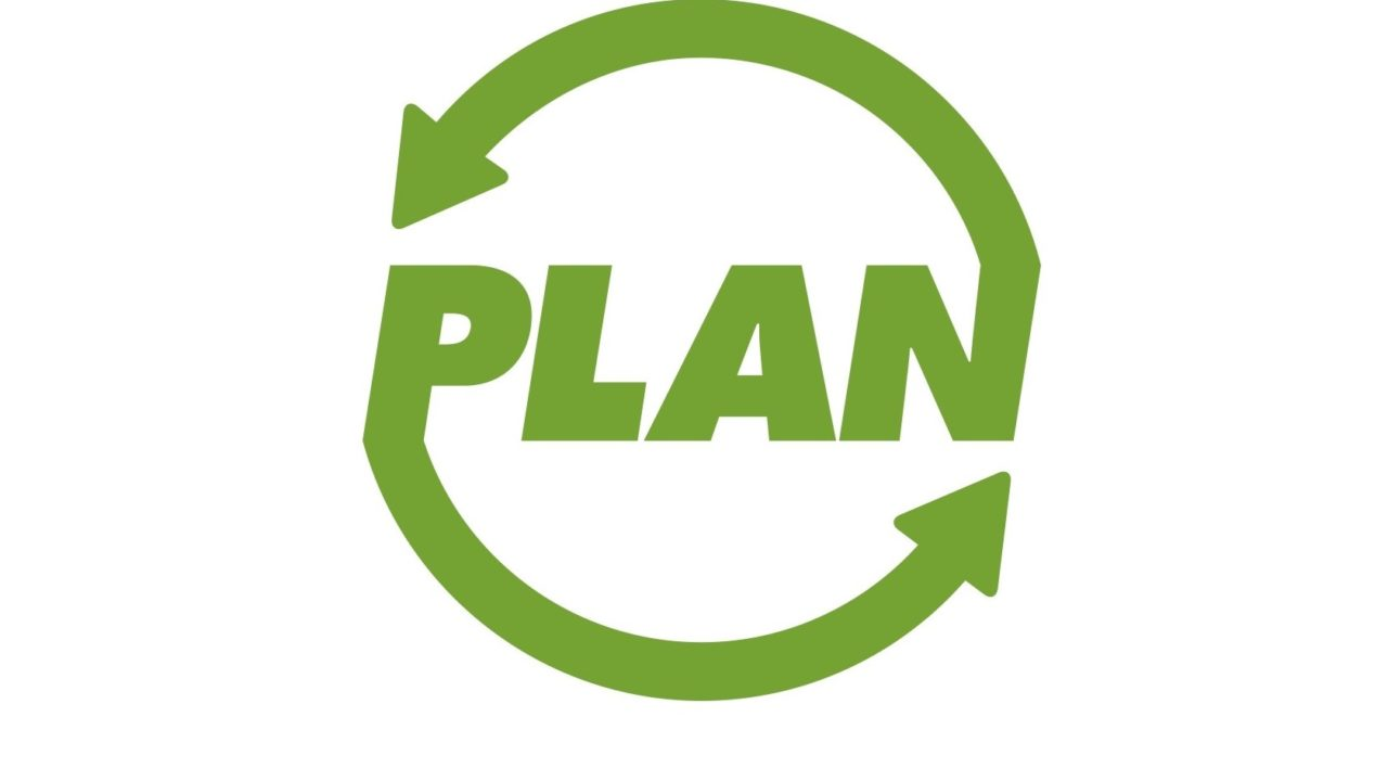 PLAN recycling logo