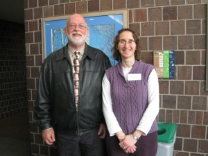 University Council on Sustainability Co-chairs, Cam Schauf (left) and Karen Berger (right)