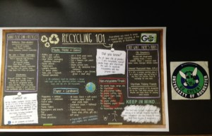 Recycling InSTALLment and Go Green Sticker