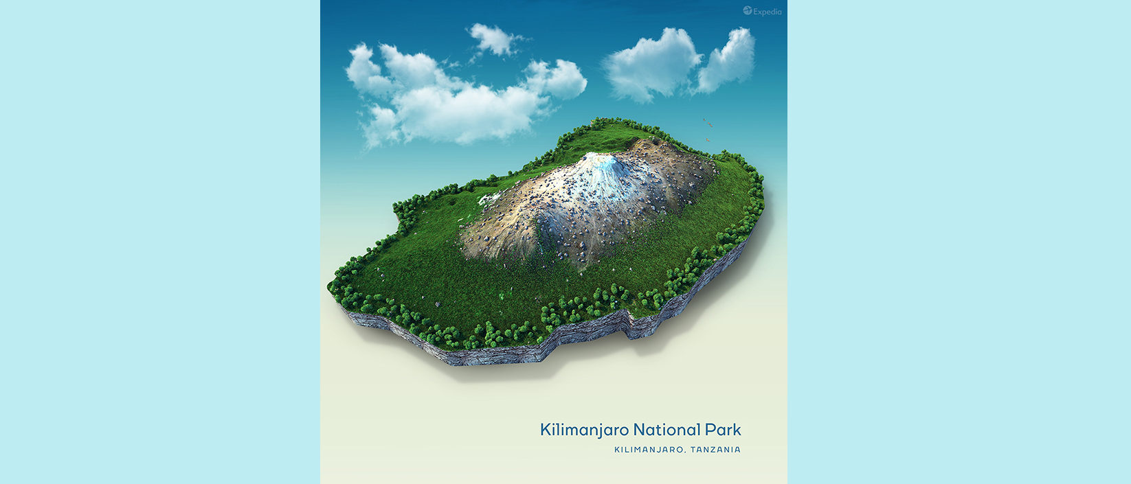 3D Map of Mount Kilimanjaro – The Green Dandelion