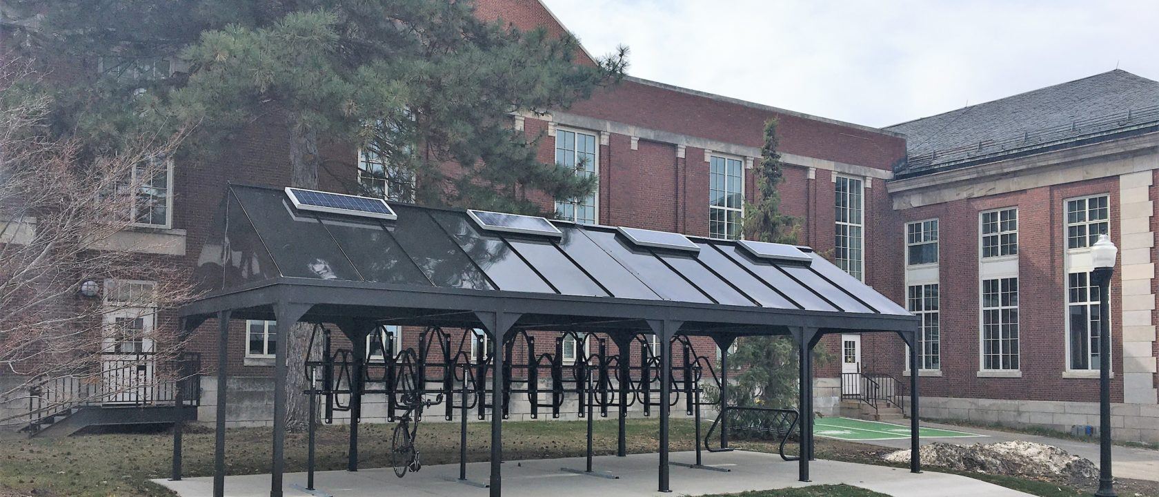 New Bike Rack Installation with Solar-Powered Lighting